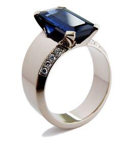 ☆ White gold, saphire and diamonds. Design Jussi Louesalmi ☆