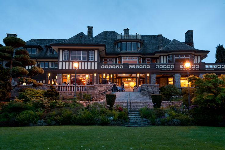 Cecil Green Park night view from lawn. http://cecilgreenpark.ubc.ca/  #weddings #vancouver #venues