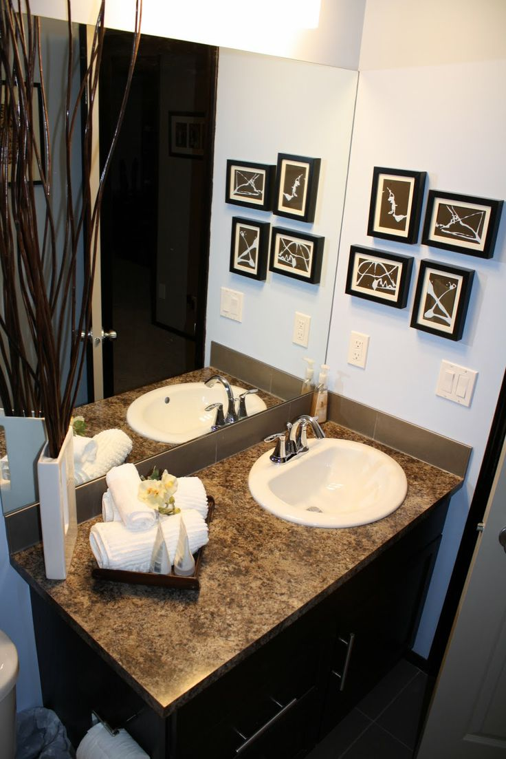 Alluring 70 brown blue bathroom sets decorating design of for Blue brown bathroom decor