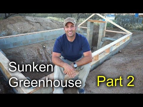 Here is part 3 of the sunken greenhouse project, also known as a pit greenhouse or walipini. In this part I go over framing of the roof structure and install...