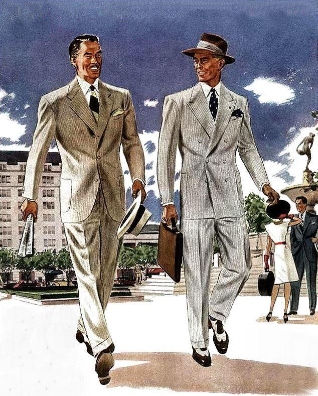 Men In The Go Fashion Illustration Vintage Vintage Mens Fashion Mens Fashion Illustration