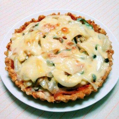 パンの耳 de キッシュ風ピザ♪ by Farwell [クックパッド] 簡単おいしいみんなのレシピが267万品