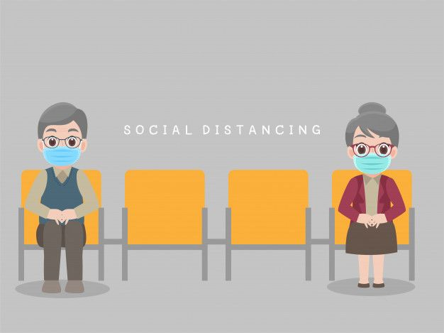 Social Distancing People Sit On Chair Keeping Distance For Infection Risk And Disease Dental World Disease People Sitting