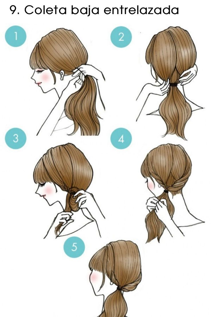 Low tail hairstyle
