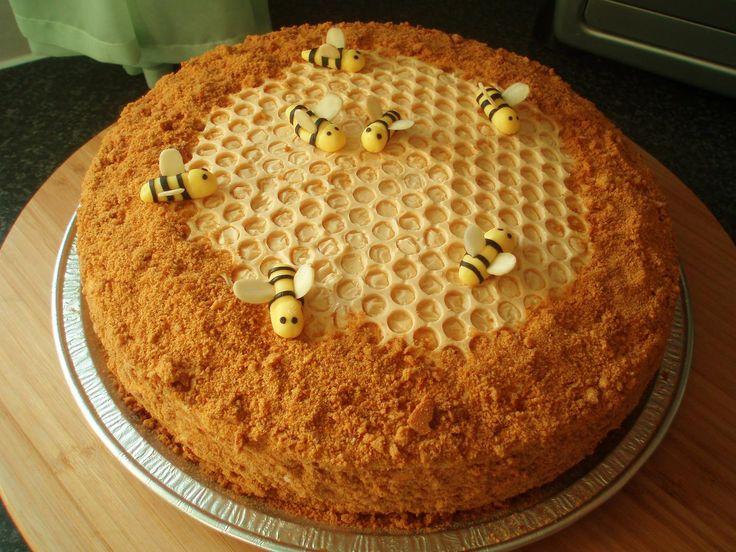 Медовый торт я стакан меду