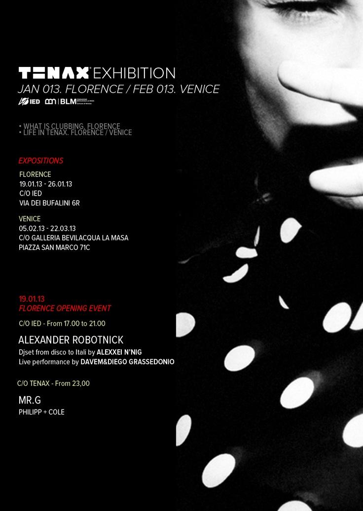 TENAX EXHIBITION: JAN 013 Firenze / FEB 013 Venezia
