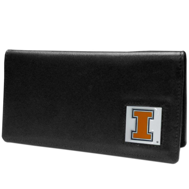 """Checkout our #LicensedGear products FREE SHIPPING + 10% OFF Coupon Code """"Official"""" Illinois Fighting Illini Leather Checkbook Cover - Officially licensed College product Genuine fine grain leather Fits top and side loaded checkbooks Plastic sleeve for duplicate check writing Metal Illinois Fighting Illini emblem with enameled team colors - Price: $22.00. Buy now at https://officiallylicensedgear.com/illinois-fighting-illini-leather-checkbook-cover-cnc55bx"""