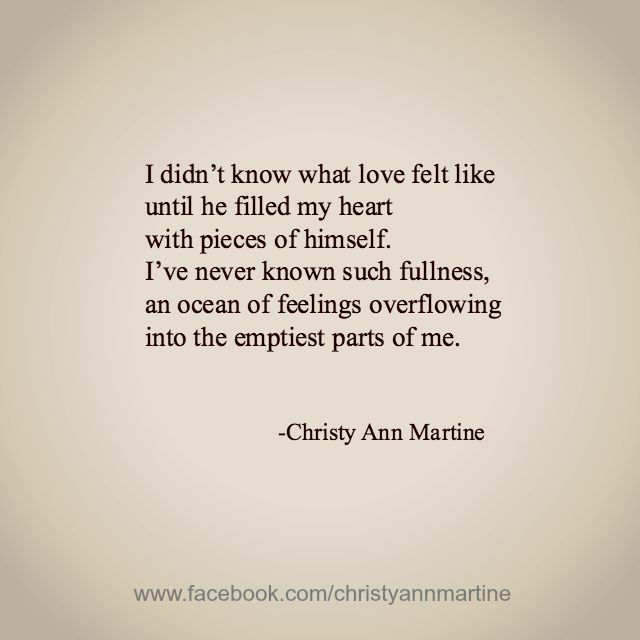 What Love Feels Like by Christy Ann Martine - Romantic Love Poems and Quotes