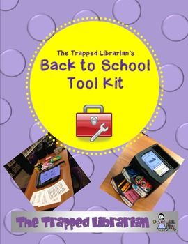 Library Back to School Tool Kit from The Trapped Librarian $