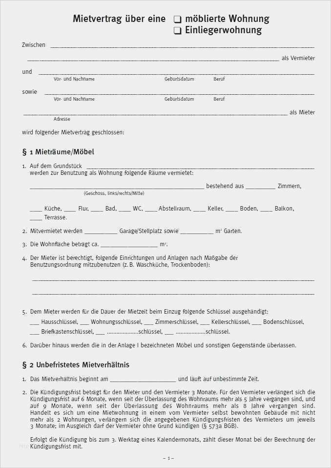 Untermietvertrag Muster Vorlage Pdf Download 11