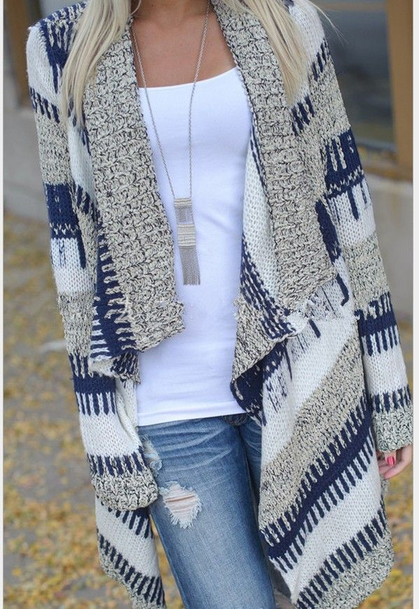 This cardigan is made from high quality fabric with color block, shawl collar, long sleeve, open front and loose fit design. Match you jeans and enjoy your weekend!