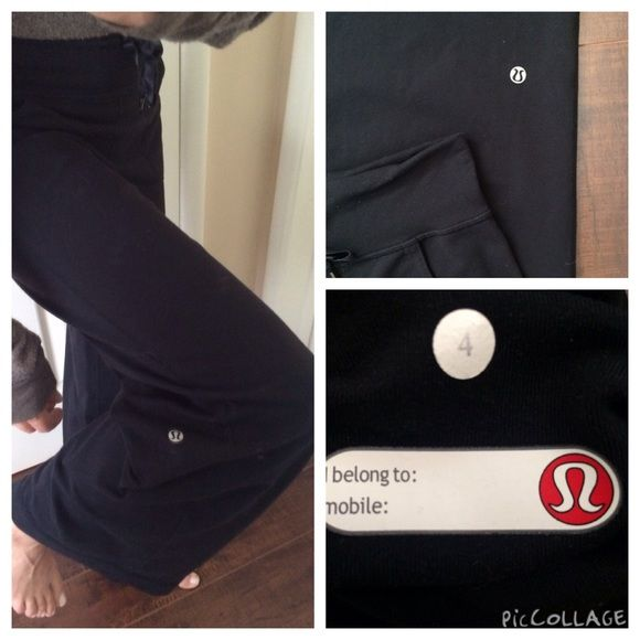 lululemon athletica Relaxed Fit Pants Relaxed fit pants with two front pockets and waistband. Some pilling at crotch and butt. Besides that fact in good condition. lululemon athletica Pants