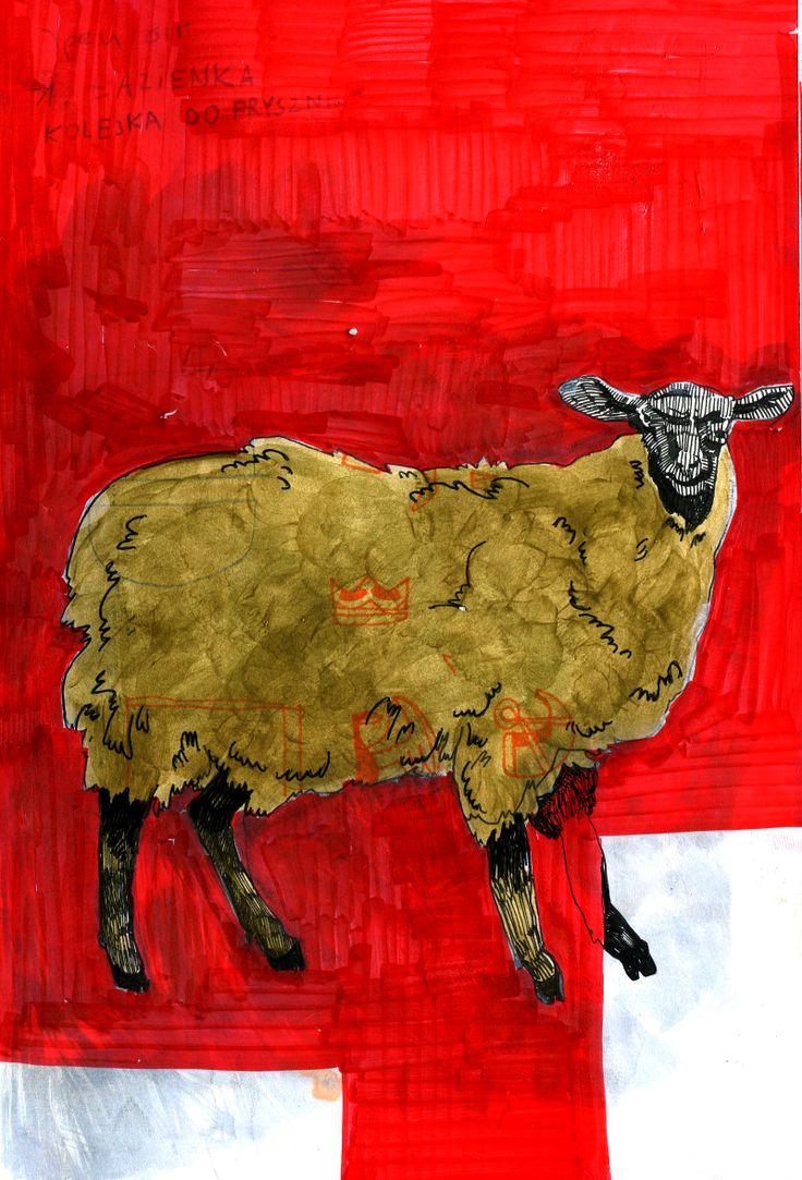 sheep  #sheep #illustration #drawing #superszybmba