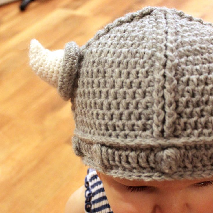 Crochet Pattern - Lael Viking Hat (Sizes Newborn to Adult). $5.50, via Etsy.