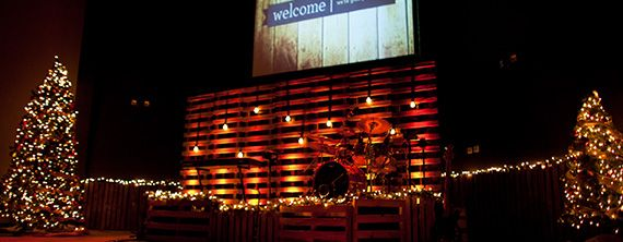 Wrapped In Pallets Church Stage Design Ideas Stage