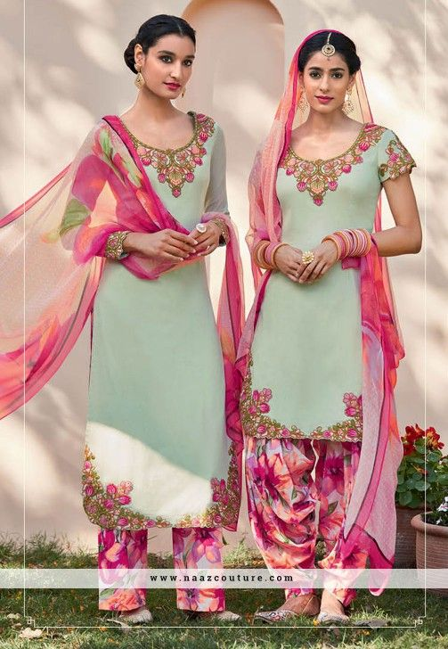 Entrancing Embroidery Work Pakistani Salwar Suit