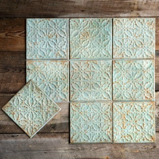 Distressed Tin Decorative Ceiling Tiles Set Of 4 Tin Ceiling Tiles Tin Ceiling Decorative Ceiling Tile