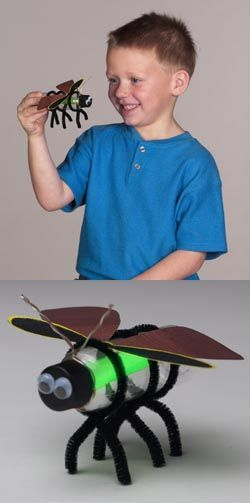 Kids are so amazed by insects and other arthropods! Such a cute firefly craft for kids