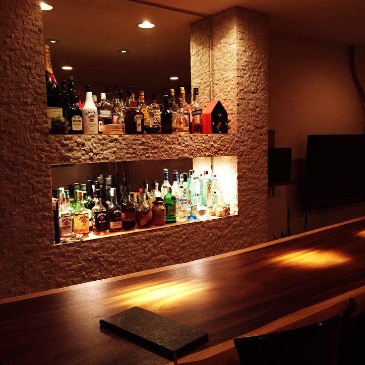 bar/ホームバー/鏡貼り/趣味の部屋/酒棚/タイル貼り…などのインテリア実例 - 2016-06-18 19:38:19 | RoomClip(ルームクリップ)