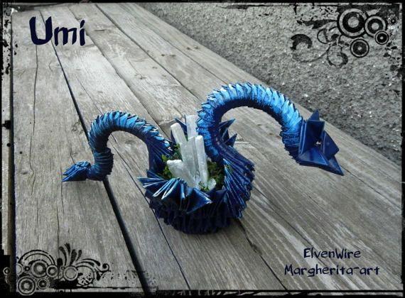 Drago Blu Origami drago di carta drago origami drago blu