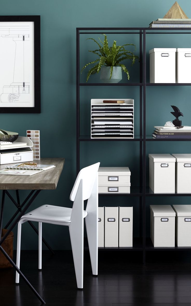 An Organized Office Is A Beautiful Keep Your Most Used Supplies And Doents Desk Storageoffice Storagemartha
