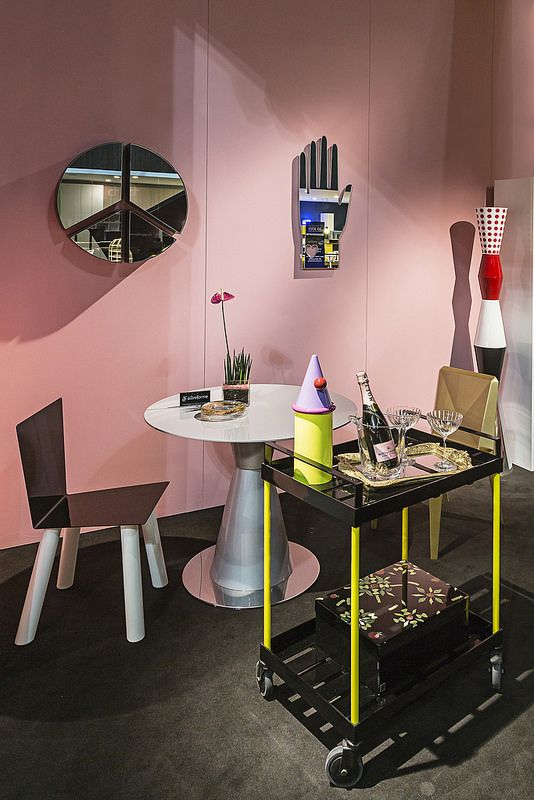 #diningroom with #fiocco and #lingotto chair and #pace mirror, #design Garilab by Piter Perbellini, #arbat table and #ulus lamp, #design Marco Piva, #fernand cart and #cafedelamairie jar, design Elena Cutolo, and #guanto mirror, design @moschinofficial , for #altreforme grand altreforme hotel #stand @iSaloni 2015  #grandaltreformehotel #altreformegoesfashion #myminisalvador #designweek#interior #home #decor #homedecor #furniture with #woweffect #aluminium