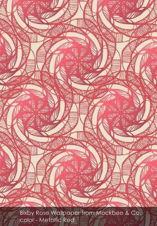 Bixby Rose Wallpaper from Mockbee & Co. - Captivating luxury with Mockbee & Co.
