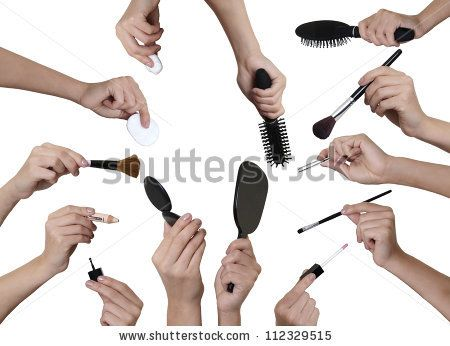 hands holding makeup brush - Google Search