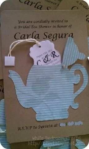White Bedroom Crafts: Bridal Shower Tea Party Invites