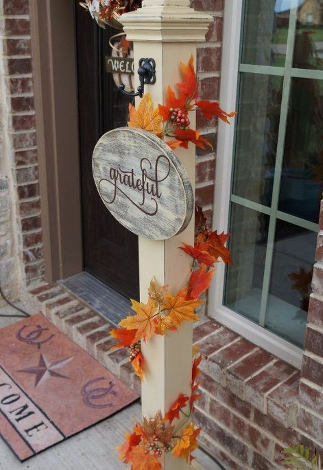 Front Porch Welcome Post | Hometalk