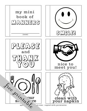 A Year of FHE: 2011 - Week 13: Manners-  Hooray a Manners/Etiquette guide  I do not have to make one for the tea party!!  Yeah! Yeah! Pinterest