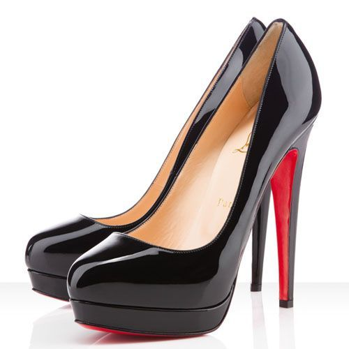 Christian Louboutin Bianca 160mm Platforms Black. I'm in love! $143   See more about black patent leather, black heels and christian louboutin.