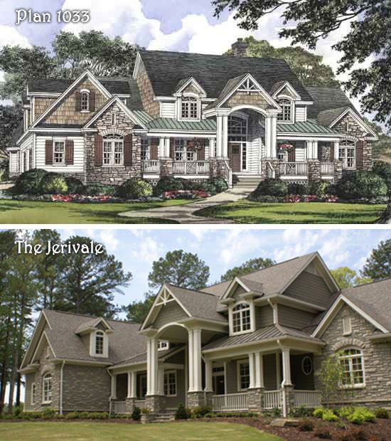 Plan 1033 the jerivale at columns for 2 story exterior design