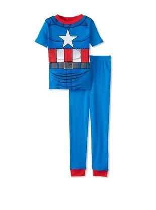 53% OFF Kid's Captain America 2-Piece Pajama Set (Blue)