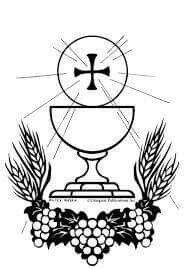 Dibujo religioso primera comunion