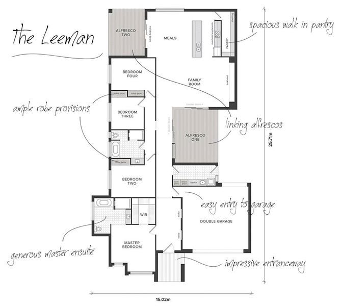 The Leeman's floor plan maximises light & open spaces. Take a look at its outstanding features http://ow.ly/Cpev5