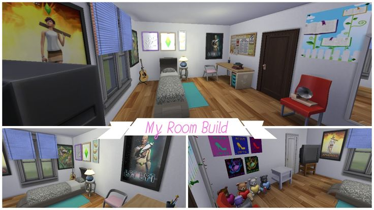 I BUILT MY ROOM!!! - Sims 4 Room Build #1