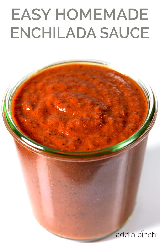 Enchilada Sauce Recipe - Enchilada sauce makes a staple ingredient to keep on hand for quick meals. Get this family-favorite homemade enchilada sauce recipe. // addapinch.com