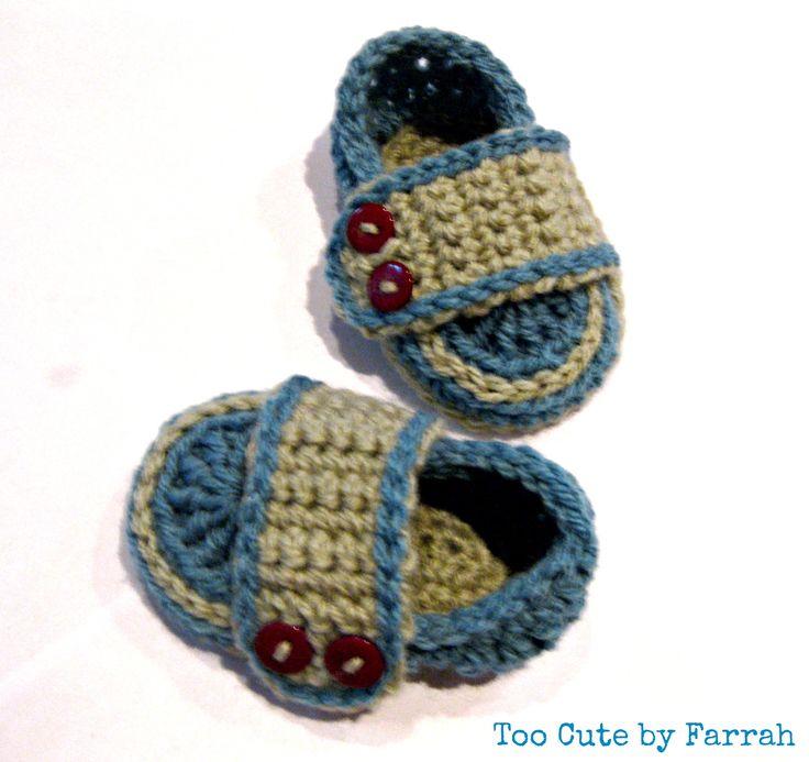 Baby booties by Farrah. 9cm sole. 0-3 months approx. See www.facebook.com/toocutebyfarrah        www.madeit.com.au/toocutebyfarrah