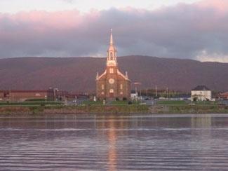 St. Peter's Church in Cheticamp, Cape Breton.