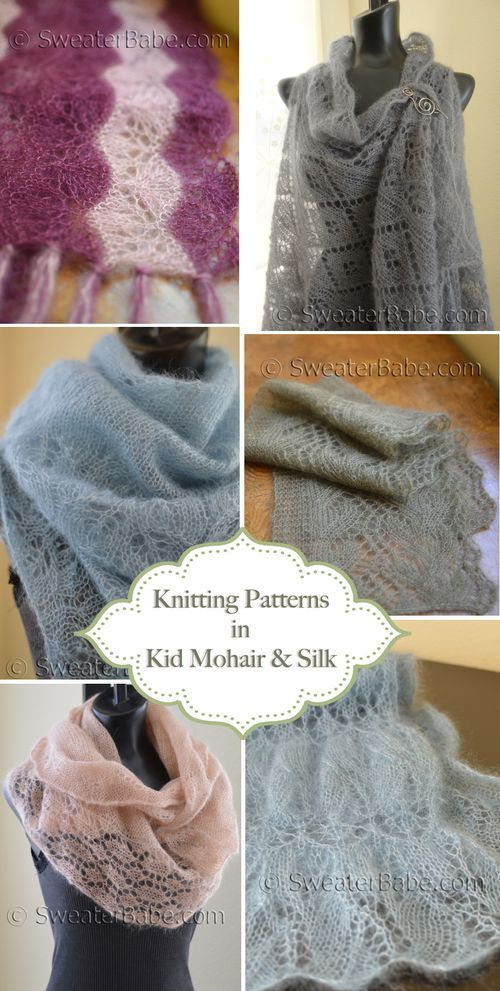 Gorgeous Knitting Patterns in Kid Mohair and Silk. So many lovely options!