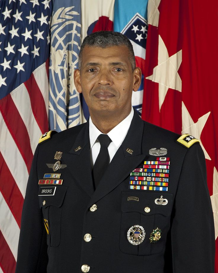 Vincent K. Brooks - give the general 5 of our special admins, and let him know he's going on a roadshow. he and his most trusted people can go. they can stay at the ritz, and are alloted a per diem of $250 for incidentals, and all food and drink are reimbursed at 110% tell him and friends to save all receipts. also get him a tailor, we don't want him marching around in a monkey suit, 4 his friends as well.