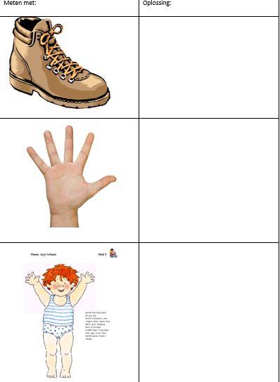 wiskundige initiatie meten voeten handen en lichaam