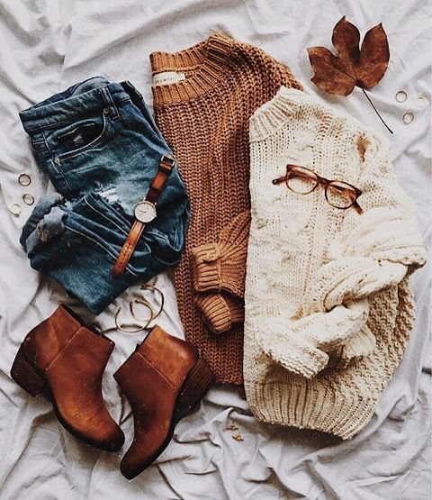 INSPIRATION: Chunky knits and chunky boots - pefect pairing
