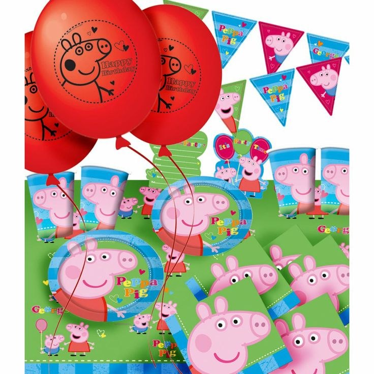 peppa pig birthday supplies - Google Search