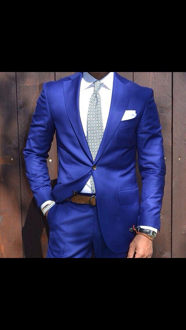 Blue Suit Blue Jacket Tie Combo White Shirt Silver Tie