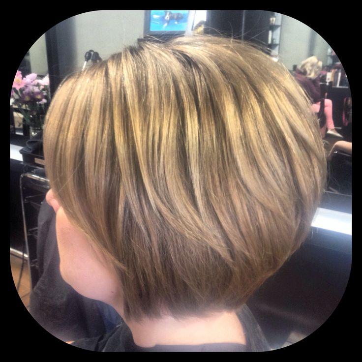Short hairstyle by Liz Abrams Invidia Salon  Razor cut, bob, layers, side bangs, short haircut