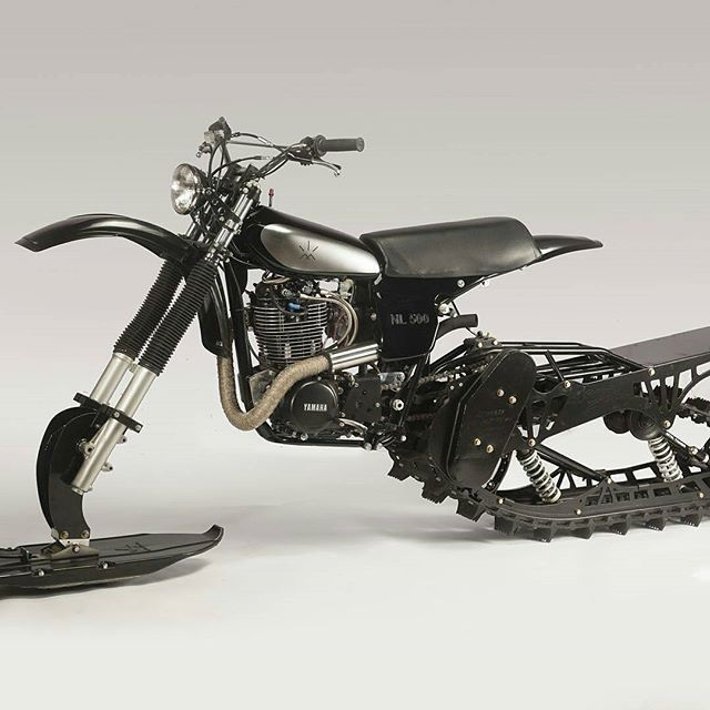 From Huskyrestoration Yamaha Hl500 Snow Bike One Of Only Two In