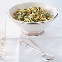 Recept - Groene tagliatelle met blauwe-kaassaus en croutons - Allerhande