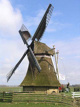 Polder mill Stienhûster Mûne / De Steenhuistermolen, Stiens, The Netherlands